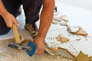 removing floor manually